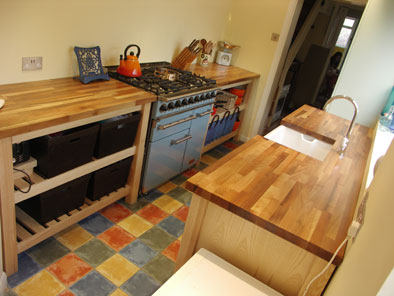 ash and walnut kitchen